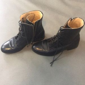 Frye Black Leather Combat Boot Sz 7.5